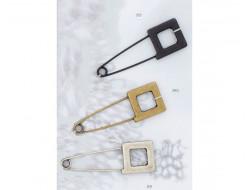 Epingle kilt métal argent, bronze ou noire