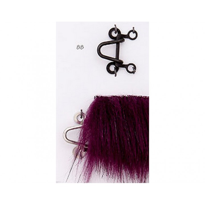 Crochet métal noir ou argent