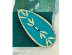 Bouton bambou turquoise