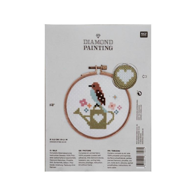 kit tableau auto adh sif oiseau sur un arrosoir mercerie floriane. Black Bedroom Furniture Sets. Home Design Ideas