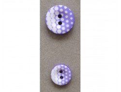 Bouton violet et blanc 12 et 18 mm