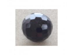 Bouton boule facette noir 12 mm