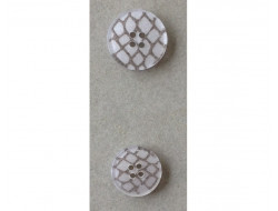 Bouton blanc fantaisie 15 et 18 mm