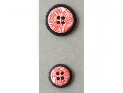 Bouton rouge fantaisie 18 et 22 mm