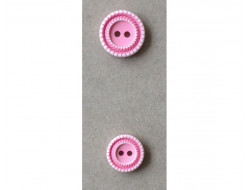 Bouton strié rose
