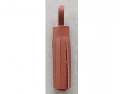 Pompon cuir marron