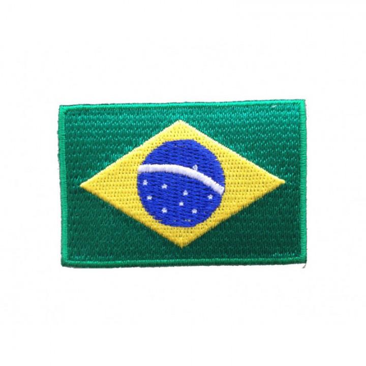 Ecusson thermocollant drapeau du Brésil