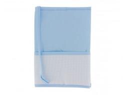 Protège carnet de santé bleu à broder