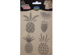 Sticker textile Ananas