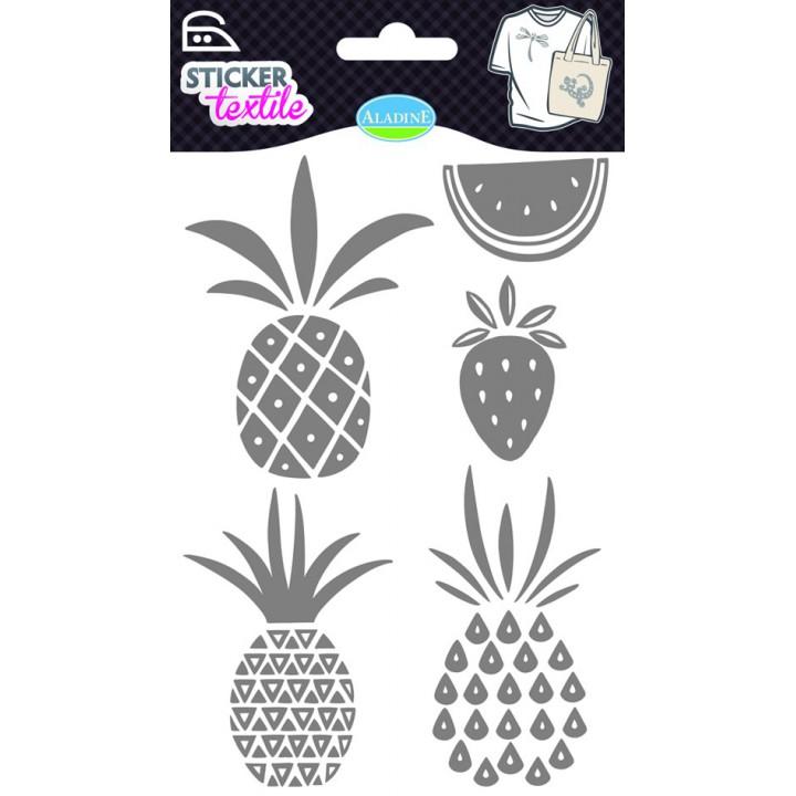 Sticker textile Ananas