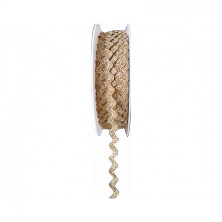 Serpentine Lurex doré - 10 mm