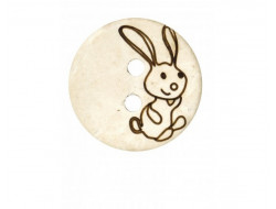 Lot de 6 boutons lapin 18 mm