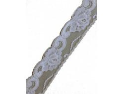 Dentelle nylon blanche Largeur 45 mm