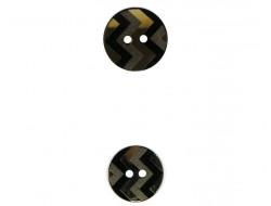 Bouton chevron doré et noir 22 et 27 mm