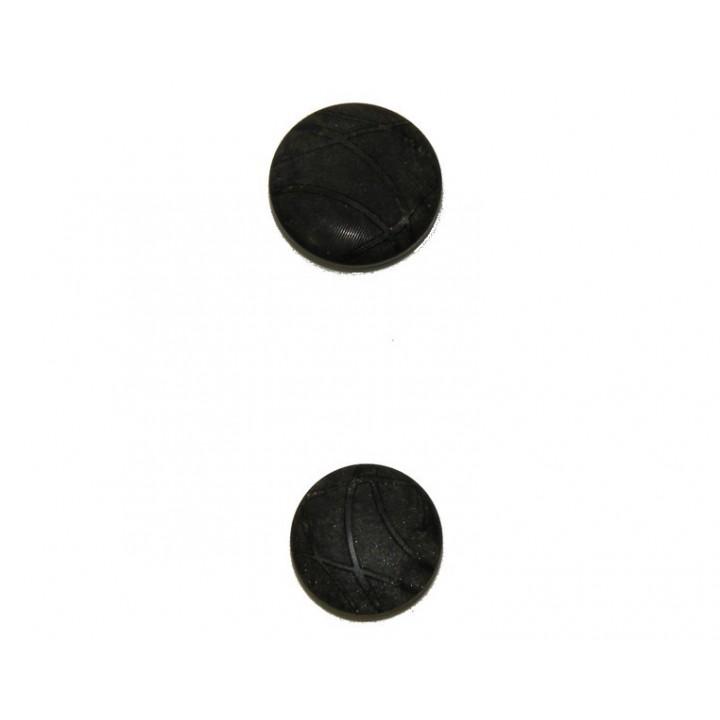 Bouton couture noir 18 et 22 mm