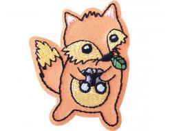 Ecusson thermocollant renard avec ses jumelles