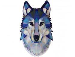 Ecusson thermocollant loup en origami