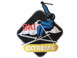 Ecusson thermocollant ski extreme