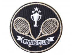 Ecusson thermocollant tennis club