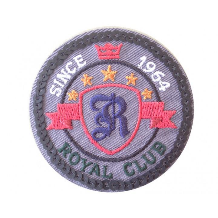 Ecusson thermocollant royal club rond