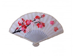 Écusson thermocollant éventail fleur de cerisier