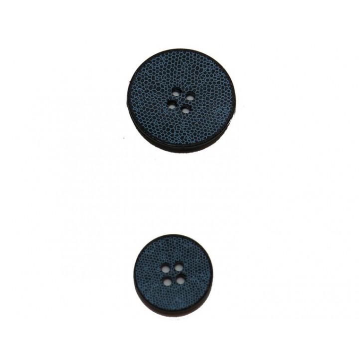 Bouton bleu effet serpent 15 et 22 mm