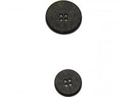Bouton blanc et noir effet serpent 15 et 22 mm