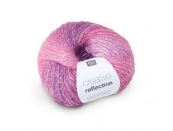 Laine creative Reflection Rico  46% Polyacrylique - 46% Laine - 8% Polyester