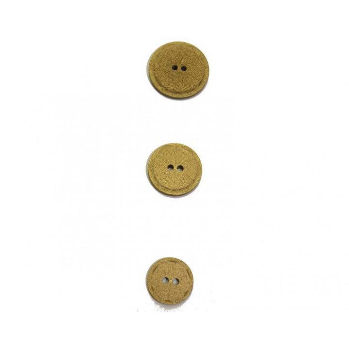 Bouton paillette doré 18, 22 et 27 mm