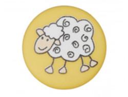 Bouton jaune mouton