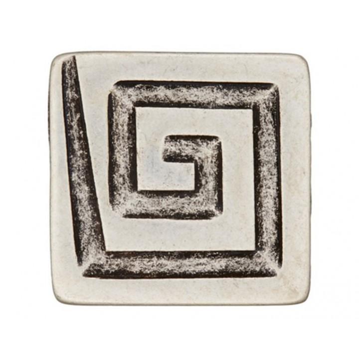 Gros bouton métal argent