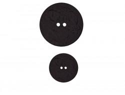 Gros bouton noir 40 mm et 28 mm