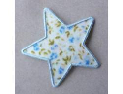 Ecusson thermocollant étoile blanche et bleue