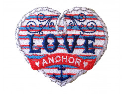 Ecusson thermocollant Love anchor