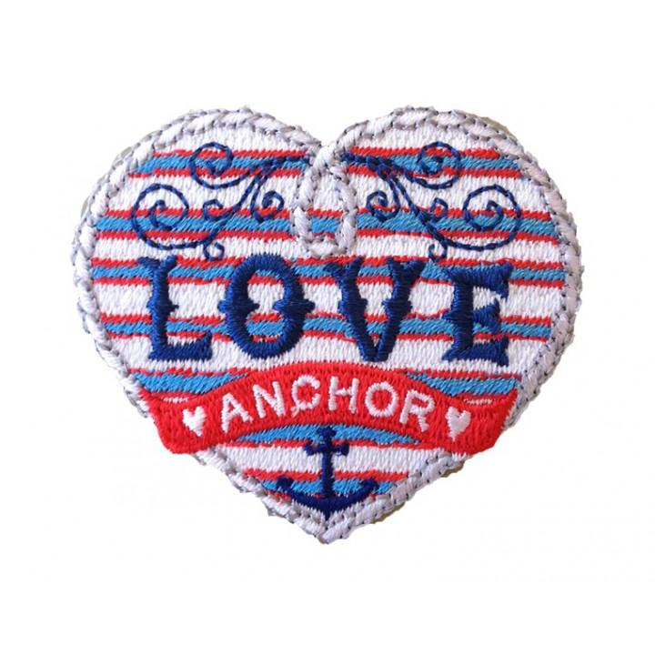 Ecusson thermocollant Love anchor