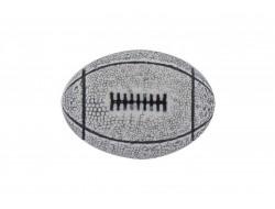 Bouton ballon de rugby gris