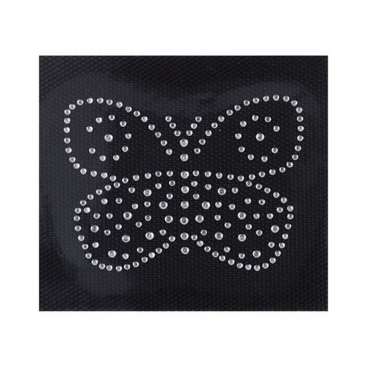 Ecusson thermocollant papillon strass