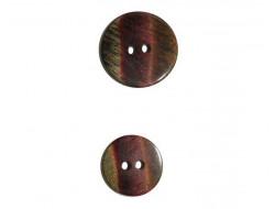 Bouton bordeaux nuancé vert, brun