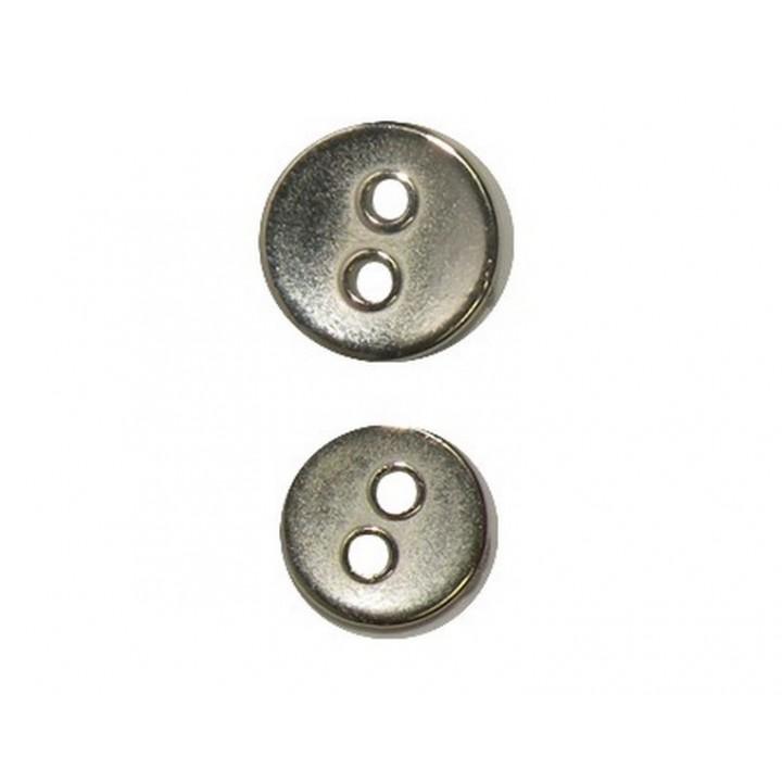 Bouton métal argent