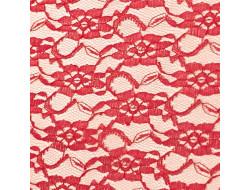 Tissu dentelles Rouge