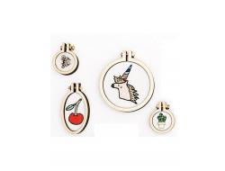 Kit mini anneau de broderie - Licorne - rond, Rico Design