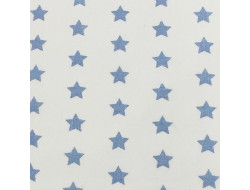 Tissu imprimé - Etoiles bleues