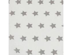 Tissu imprimé - Etoiles grises