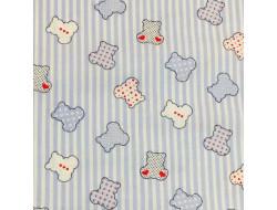 Tissu imprimé - Calinou bleus