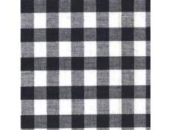 Tissu imprimé - Vichy noir & blanc