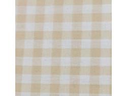 Tissu imprimé - Vichy beige