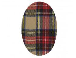 Renforts pour coudes ou genoux fantaisies écossais rouge