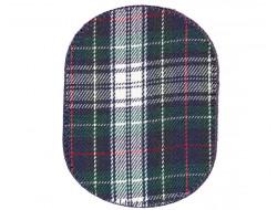 Renforts pour coudes ou genoux fantaisies écossais vert