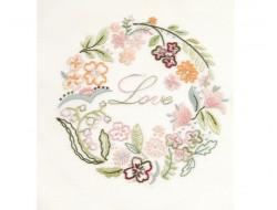 Coupon pré-tracé - Cercle fleuri