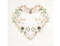 Coupon pré-tracé - Coeur floral, DMC